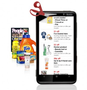 Target mobile coupons on a smartphone